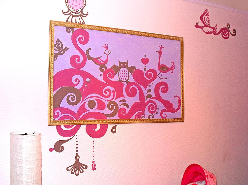 Детская комната — Декоративное панно