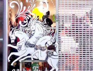 ТРК Мега — Роспись витрины